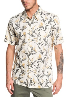 Quiksilver Maze Day Regular Fit Short Sleeve Button-Up Shirt