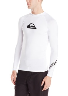 Quiksilver Men's All Time ong Sleeve Surf Tee Rashguard  arge