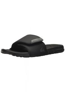 Quiksilver Men's Amphibian Slide Adjust Sandal Black/Grey 12 M US