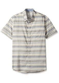 Quiksilver Men's Aventail Short Sleeve Button Down Shirt  2XL