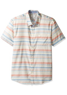 Quiksilver Men's aventail Short Sleeve Woven Top Burnt Sienna aventail