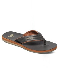 Quiksilver Men's Carver Nubuck 3 Point Sandal Demitasse/Solid