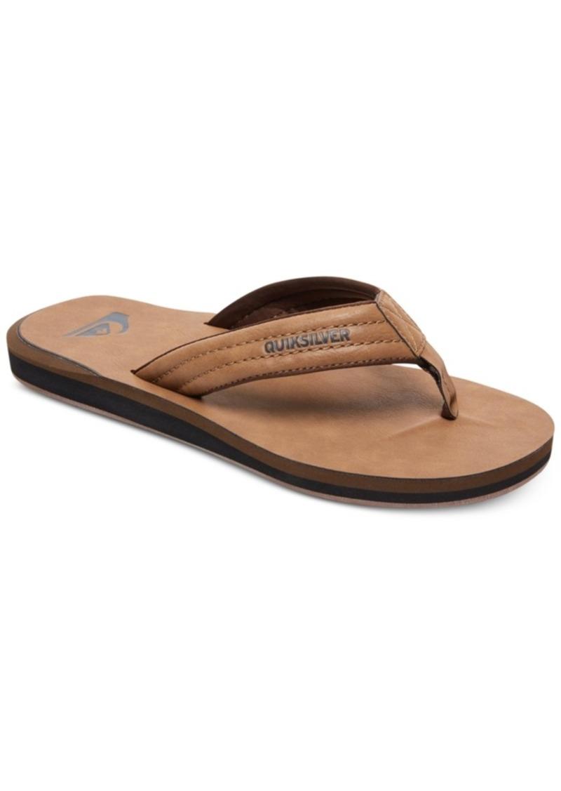 Quiksilver Men's Carver Nubuck Flip-Flop Sandals