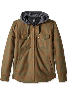 Quiksilver Men's Connector Riding Snowboard Ski Insulated Flannel Shirt  S