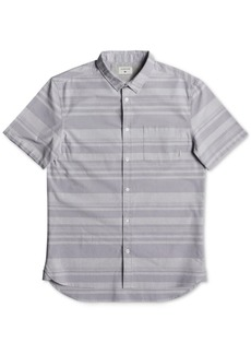 Quiksilver Men's Curved-Hem Striped Shirt