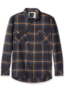 Quiksilver Men's Fitz Forktail Flannel Shirt Tarmac