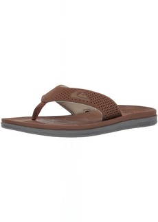 Quiksilver Men's Haleiwa Plus Sandal Brown/Orange 12 M US