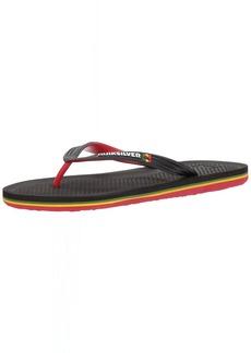 Quiksilver Men's Haleiwa Sandal Black/red/Green  M US