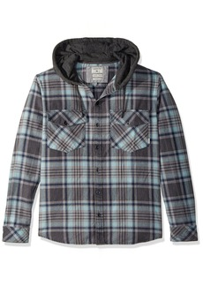 Quiksilver Men's Hooded Tang Flannel Shirt  S