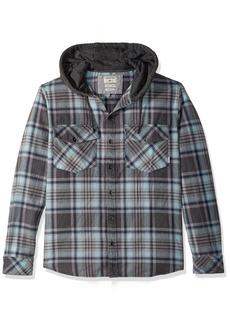 Quiksilver Men's Hooded Tang Flannel Shirt  XXL