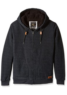 Quiksilver Men's Keller Sherpa Hooded Sweatshirt Dark Grey h Medium