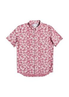 Quiksilver Men's Leaf Camo Short Sleeve Shirt