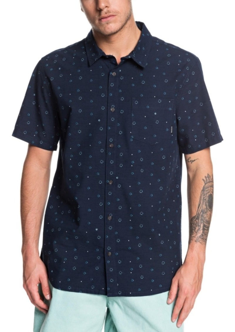 Quiksilver Men's Magnetic Roll Short Sleeve Woven Shirt