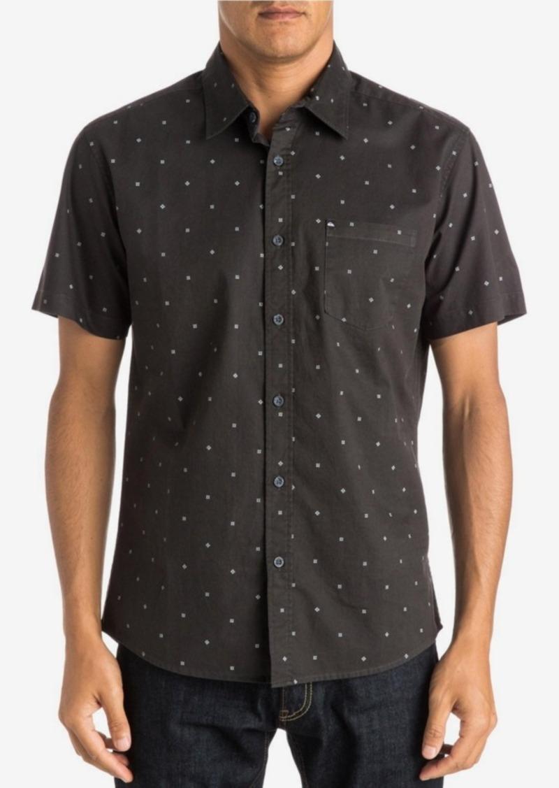Quiksilver Men's Micro-Square Pattern Short-Sleeve Shirt