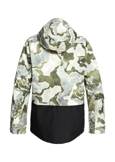 Quiksilver Mens Mission Printed Block Snow Jacket