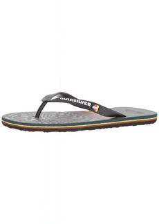 Quiksilver Men's Molokai Highline Division Sandal red/Yellow/Green  M US