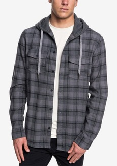 Quiksilver Men's Plaid Hooded Brushed Flannel Shirt
