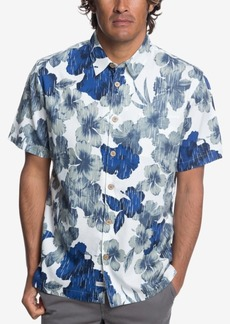 Quiksilver Waterman Men's Rain Flowers Hawaiian Shirt