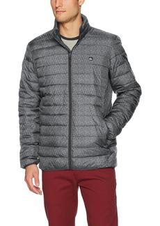 Quiksilver Men's Scaly Full Zip Puffy Jacket Dark Grey Heather
