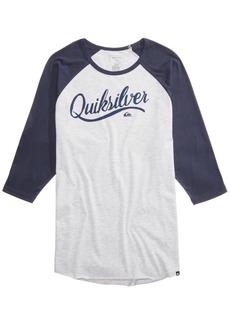 Quiksilver Men's Sea Scroll Graphic-Print Raglan Shirt