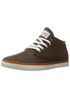 Quiksilver Men's Shorebreak Deluxe mid Skateboarding Shoe Brown