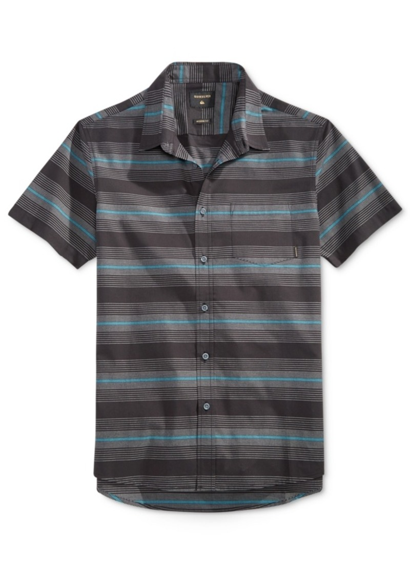 Quiksilver Men's Short-Sleeve Full Draft Stripe Shirt