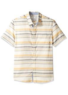Quiksilver Men's aventail Short Sleeve Woven Top Birch aventail