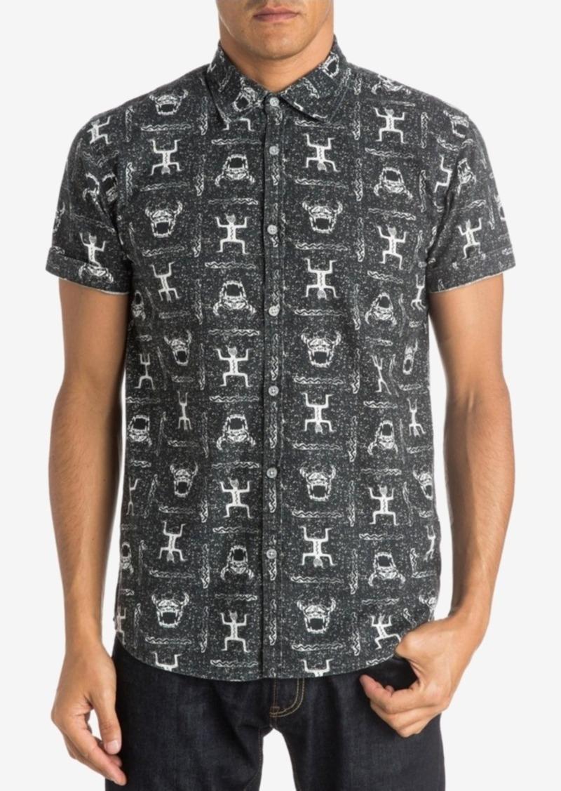 Quiksilver Men's Skull Cave Graphic-Print Short-Sleeve Shirt