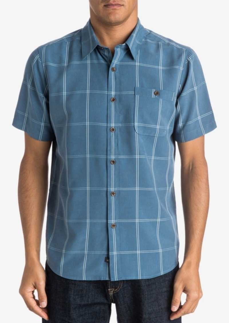 Quiksilver Men's Slow and Steady Windowpane Shirt