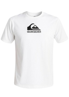 Quiksilver Men's Solid Streak Logo-Print Rash Guard