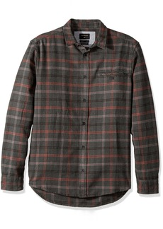 Quiksilver Men's Sunda Ray Flannel Shirt Apple Butter