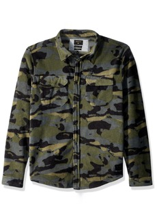 Quiksilver Men's Surf Days Camo Polar Fleece Button Down Shirt  XXL