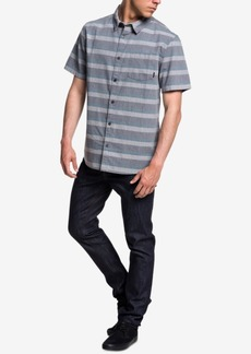 Quiksilver Men's Tama Kai Textured Stripe Pocket Shirt