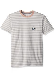 Quiksilver Men's TEE White mad Wax Mini Stripe XXL