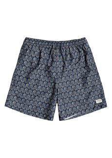Quiksilver Men's Threads and Fins Volley Swim Trunks