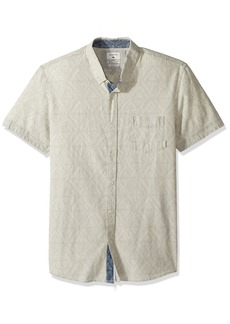 Quiksilver Men's Spectrum Tracks Button Down Shirt  2XL