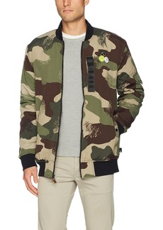 Quiksilver Men's Trestles Army Bomber Jacket
