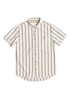 Quiksilver Men's Vertical Stripe Short Sleeve Shirt