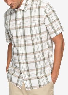 Quiksilver Men's Waterman Acotz Lines Yarn-Dyed Plaid Pocket Shirt