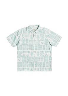 Quiksilver Men's Waterman Apaki Atoll Short Sleeve Shirt