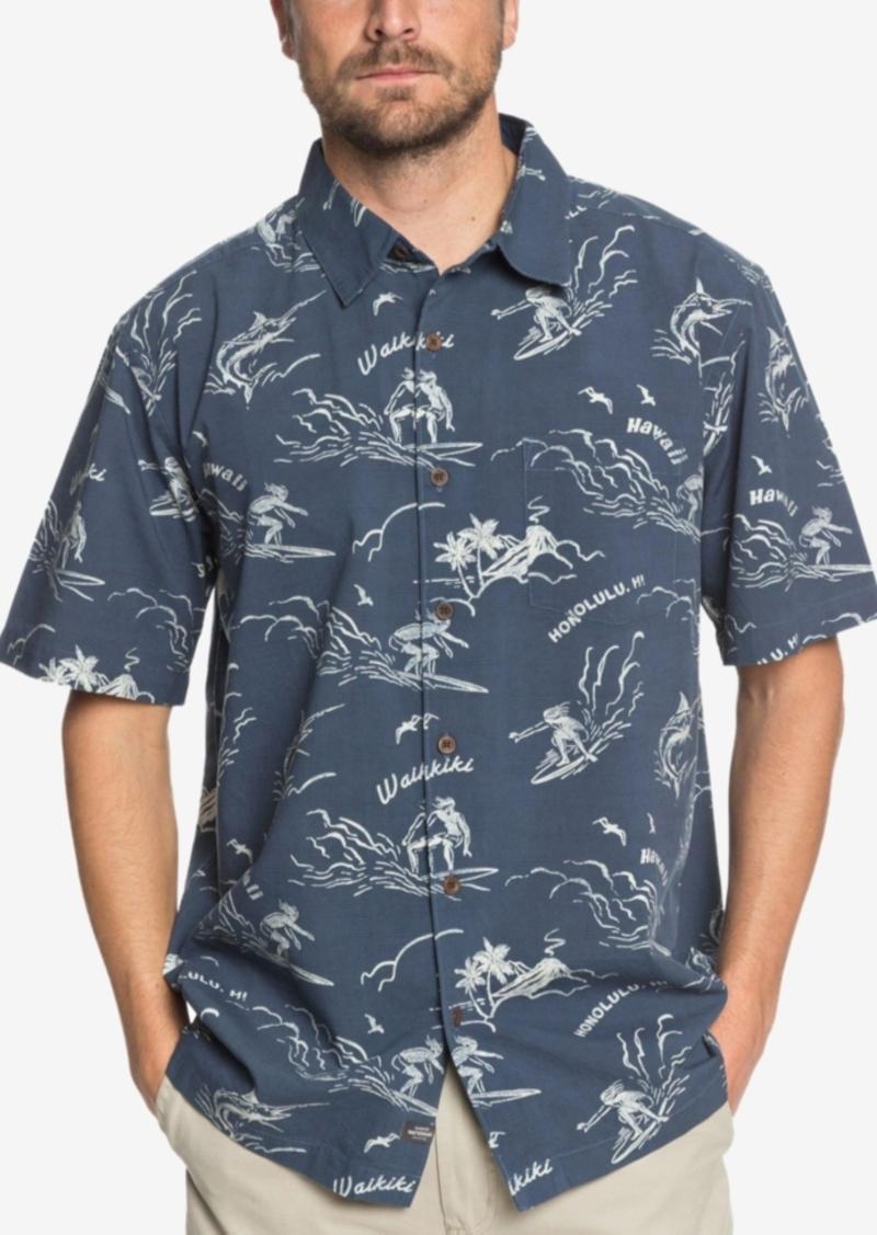 Quiksilver Men's Waterman Town All Day Printed Shirt