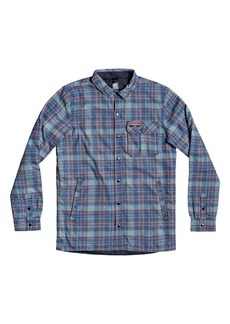 Quiksilver Men's Wildcard Water Repellent Plaid Flannel Shirt Jacket