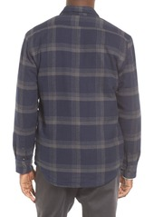 Quiksilver Metal Layer Quilt Lined Flannel Shirt