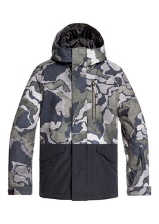 Quiksilver Mission Block Hooded Snow Jacket (Big Boys)