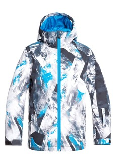 Quiksilver Mission Print Hooded Snow Jacket (Big Boys)