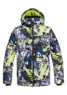 Quiksilver Mission Print Insulated Waterproof Hooded Jacket (Big Boys)