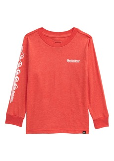Quiksilver Modern Script Logo Long Sleeve T-Shirt (Toddler & Little Boy)