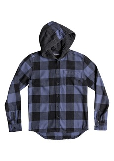Quiksilver Motherfly Hooded Flannel Shirt (Big Boys)