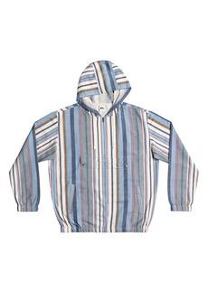 Quiksilver Neo Blue Stripe Half Zip Hoodie
