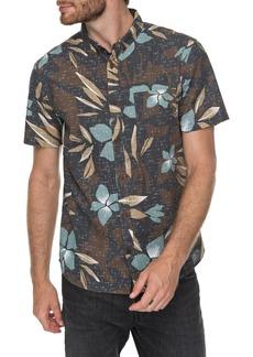 Quiksilver Print Linen-Blend Shirt